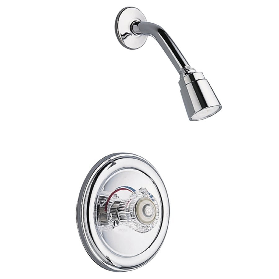 Shop Moen Legend Chrome 1 Handle Shower Faucet Valve Included With Single Function Showerhead At