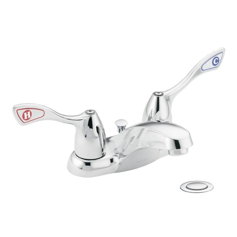 Moen M-bition Chrome 2-Handle 4-in Centerset Commercial Bathroom Faucet