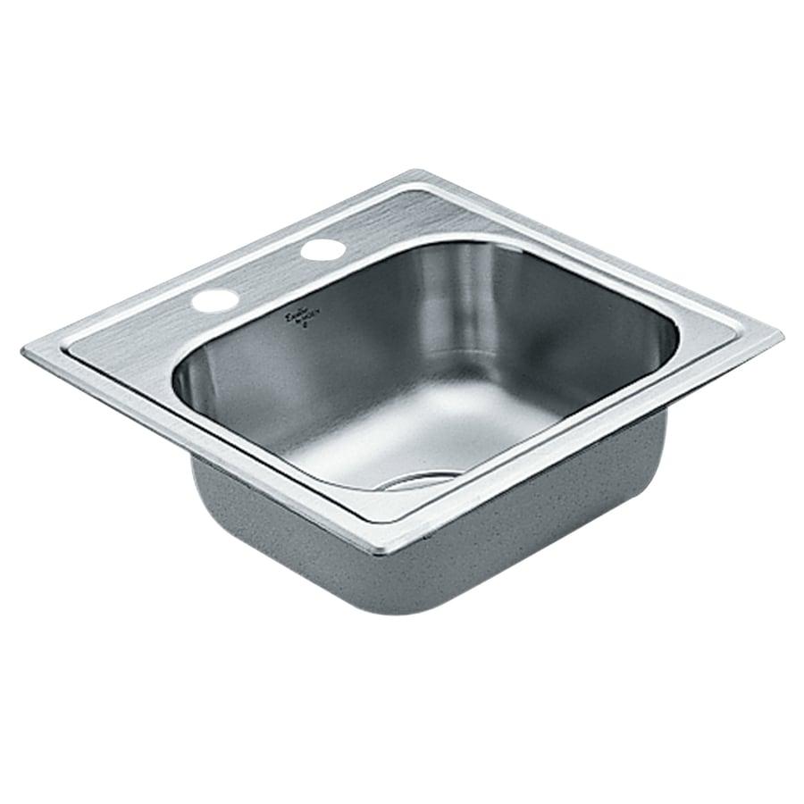 Moen Excalibur 22-Gauge Single-Basin Drop-In Stainless Steel Bar Sink