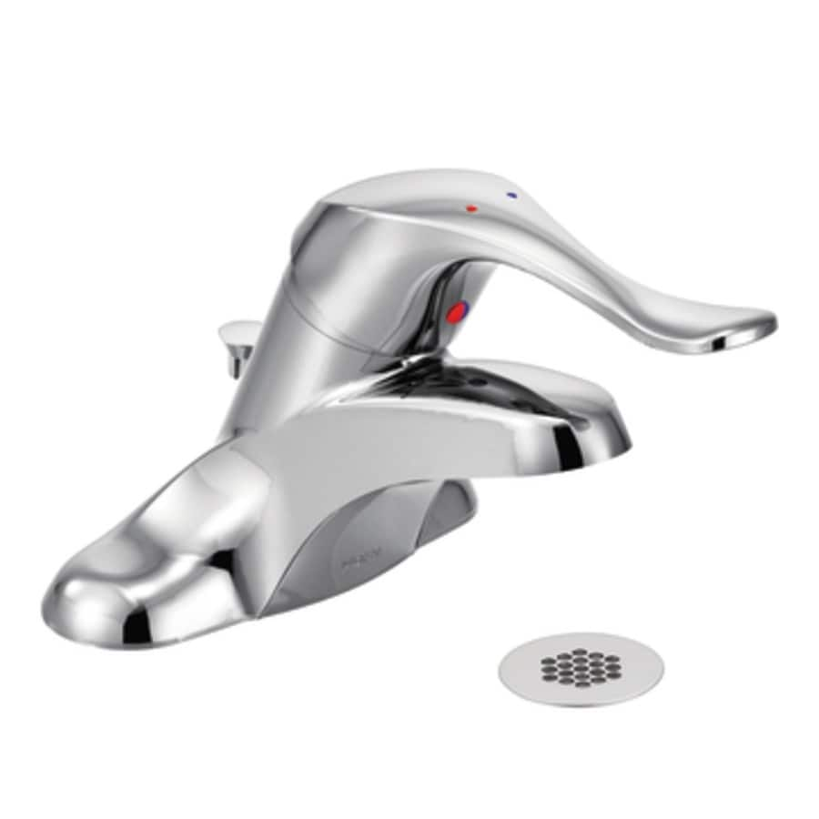 Moen M-Bition Chrome 1-Handle Watersense Bathroom Sink Faucet (Drain Included)