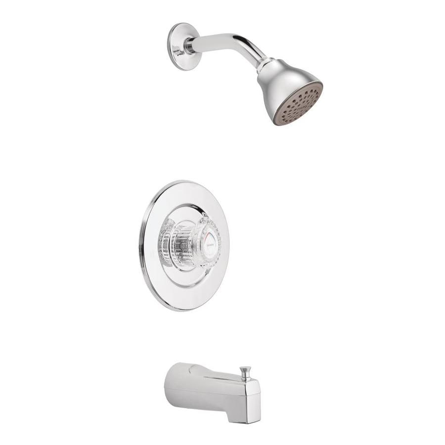 Shop Moen Chateau Chrome 1-Handle Bathtub and Shower Faucet at Lowes.com