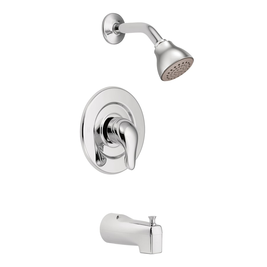 Shop Moen Chateau Chrome 1-handle Shower Faucet at Lowes.com