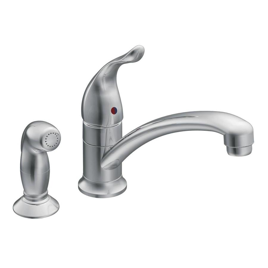 Shop Moen Chateau Chrome 1-Handle Low-arc Kitchen Faucet with Side ...