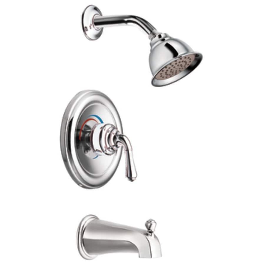 Moen monticello bathroom faucet - Moen Monticello Chrome 1 Handle Bathtub And Shower Faucet Trim Kit With Single Function Showerhead