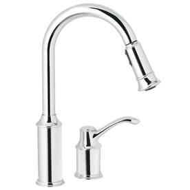 Moen Aberdeen 1 Handle Deck Mount Pull Down Kitchen Faucet