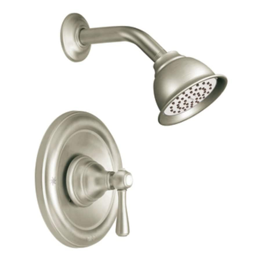 Moen Kingsley Brushed Nickel 1-Handle Shower Faucet with Single Function Showerhead