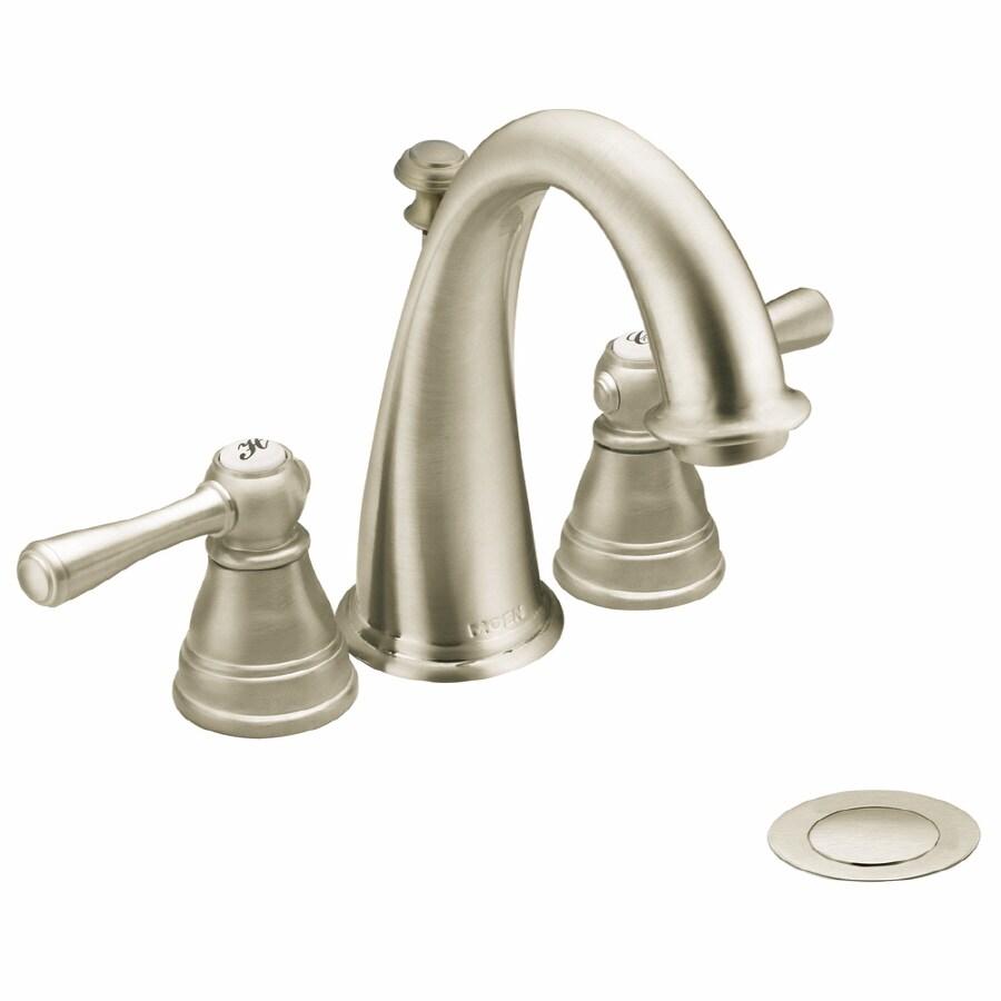 Shop Moen Brushed Nickel Kingsley Mini Widespread Bathroom Faucet Trim Kit At