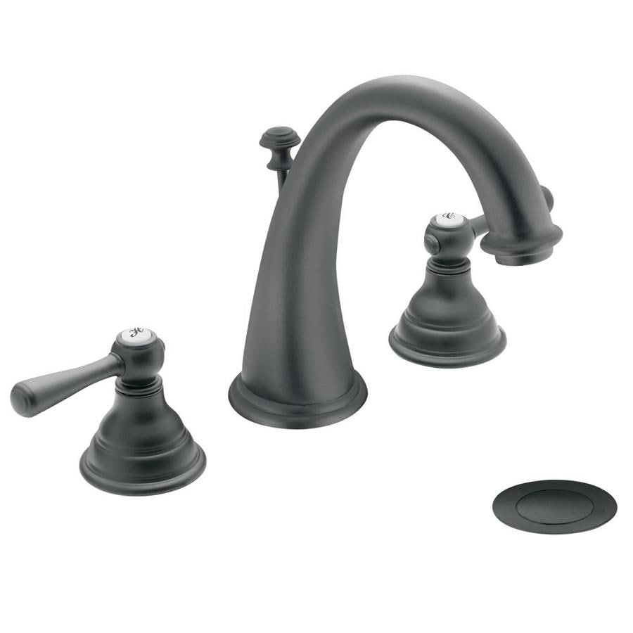 Shop Moen Kingsley Wrought Iron 2 Handle Widespread Bathroom Sink Faucet At