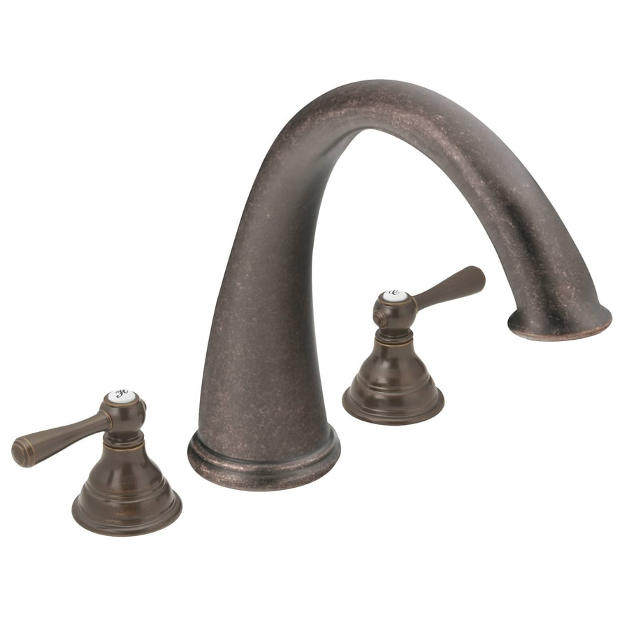 Moen Kingsley Oil Rubbed Bronze 2-Handle Deck Mount Bathtub Faucet