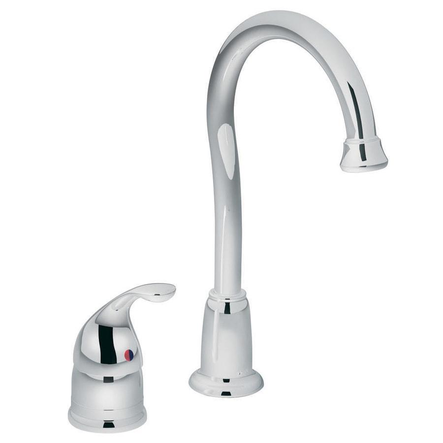 Moen Camerist Chrome 1-Handle Deck Mount High-arc Bar and Prep Faucet
