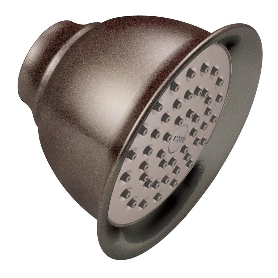 Moen 4.375-in 2.5-GPM (9.5 Lpm) Oil-Rubbed Bronze 1-Spray Showerhead