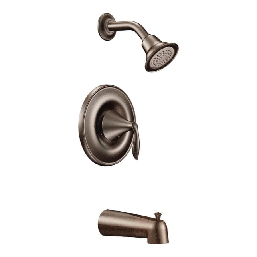 Moen Eva Oil-Rubbed Bronze 1-Handle Bathtub and Shower Faucet