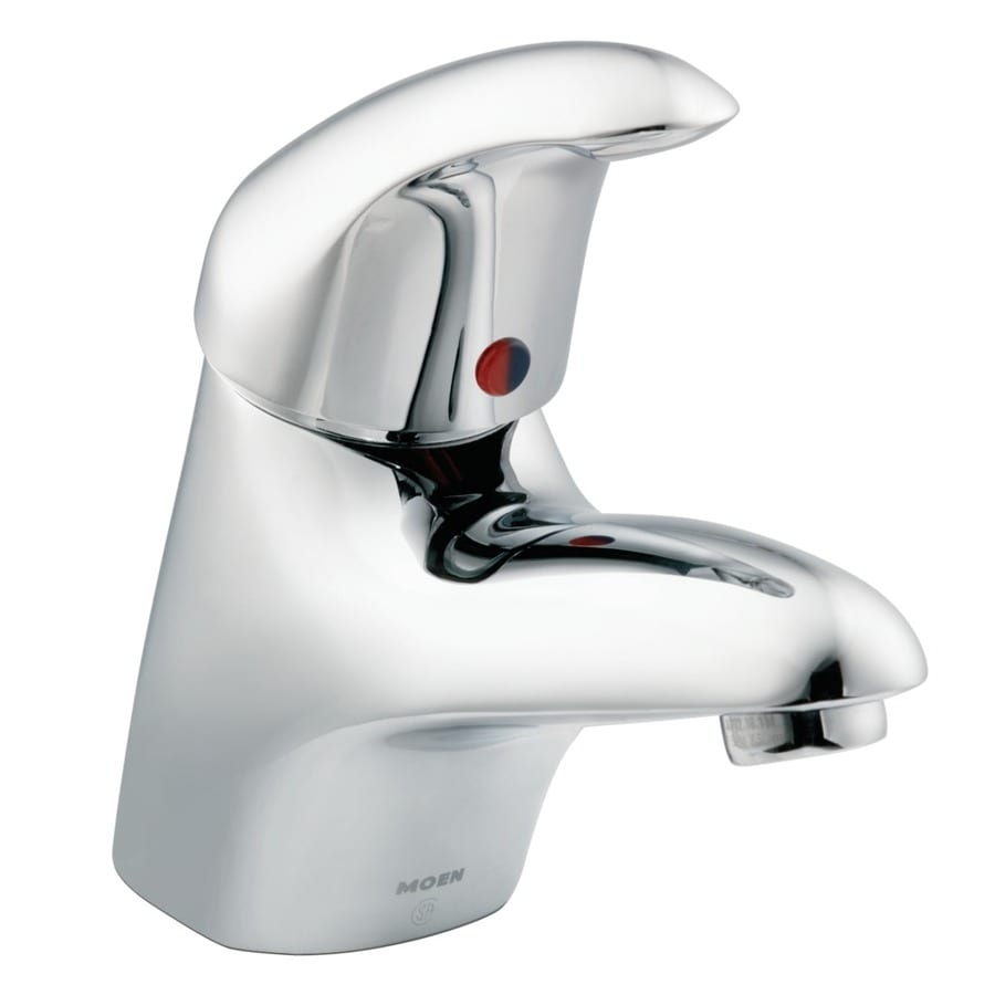 Moen M-Dura Chrome 1-Handle Watersense Bathroom Sink Faucet (Drain Included)