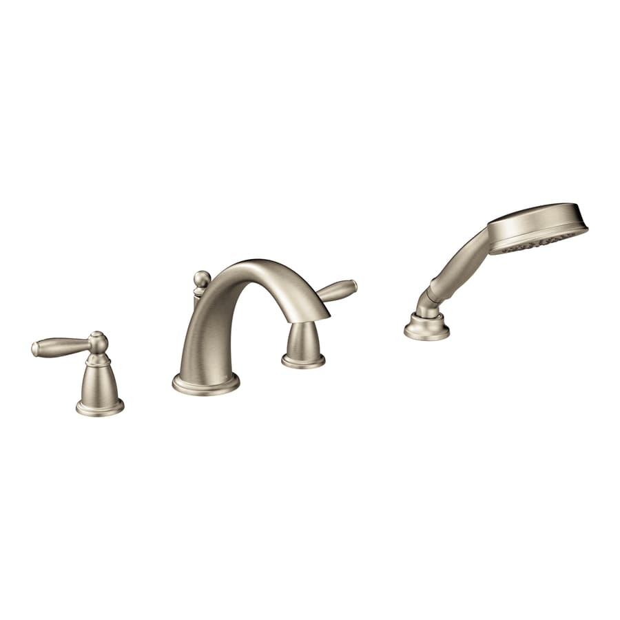 Moen Brantford Brushed Nickel 2-Handle Bathtub and Shower Faucet