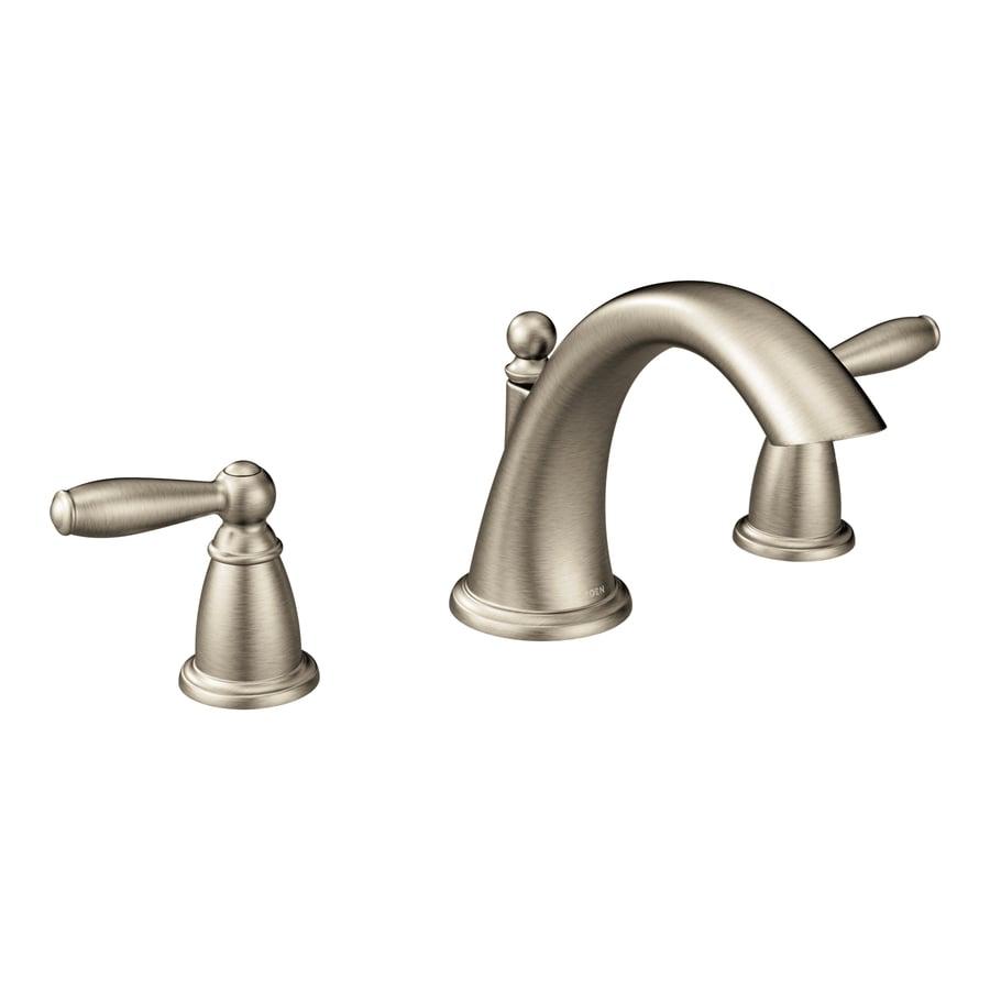 Moen Brantford Two Handle Roman Tub Faucet Trim in Brushed Nickel