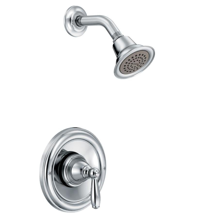 Moen Brantford Chrome 1-Handle Shower Faucet Trim Kit with Single Function Showerhead