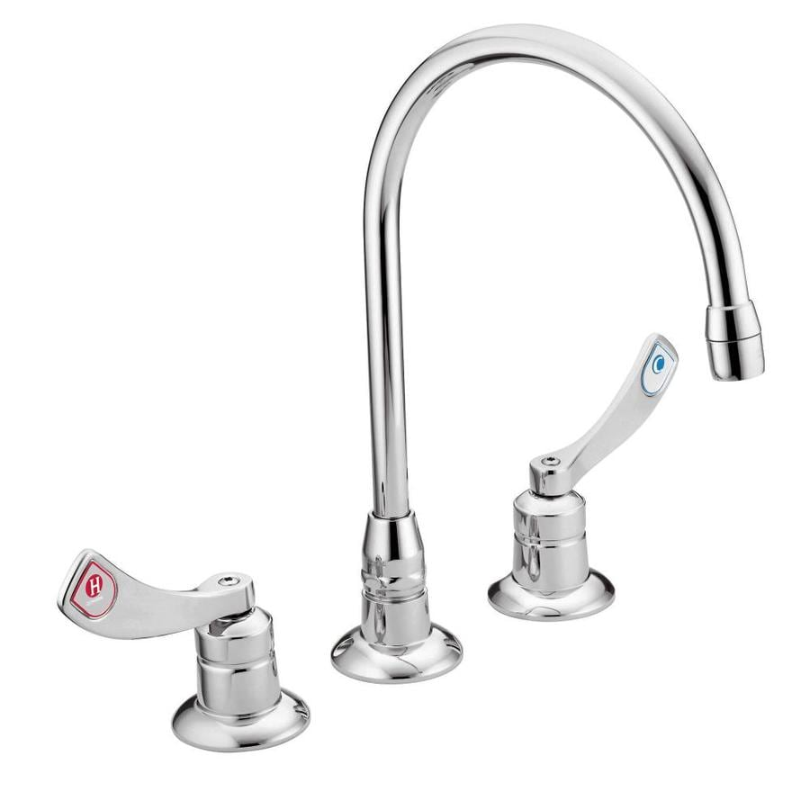 Shop Moen M-dura Chrome 2-Handle Widespread Commercial Bathroom ...