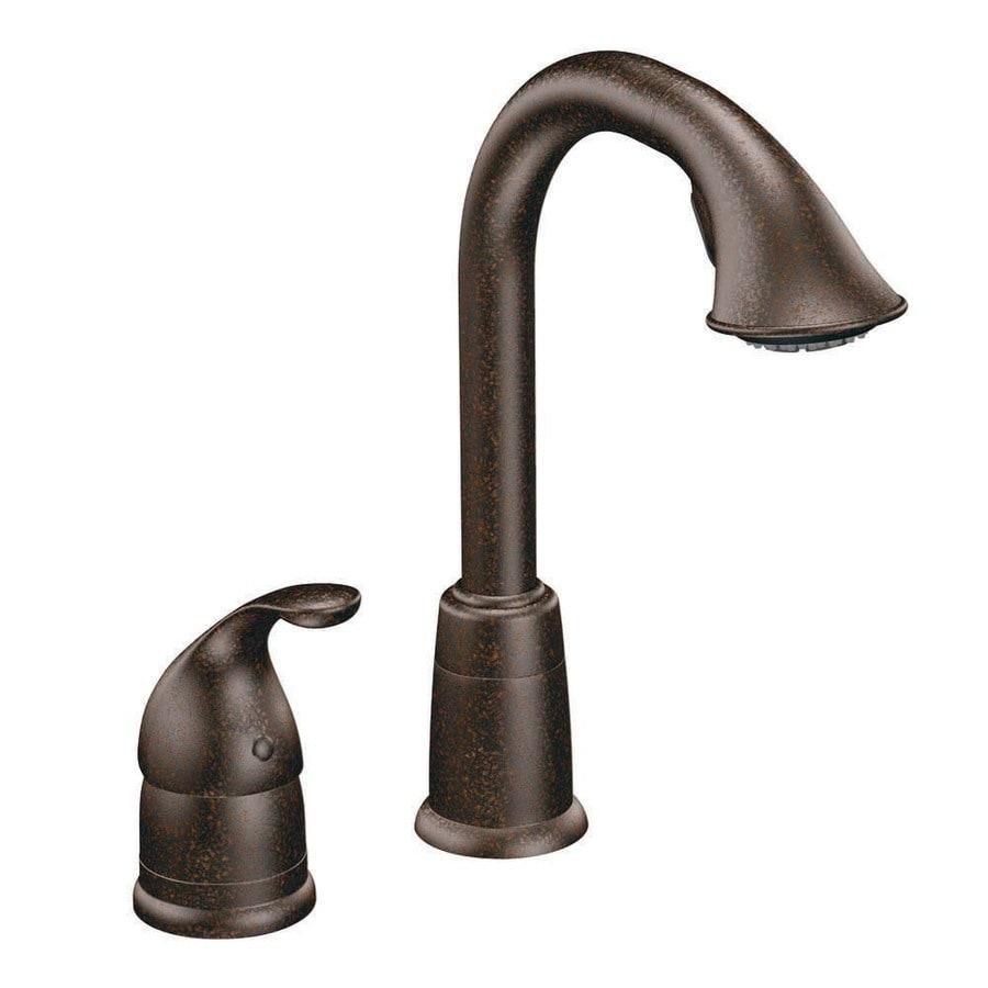 shop moen camerist oil rubbed bronze 1 handle kitchen faucet com 7245orb in oil rubbed bronze by moen