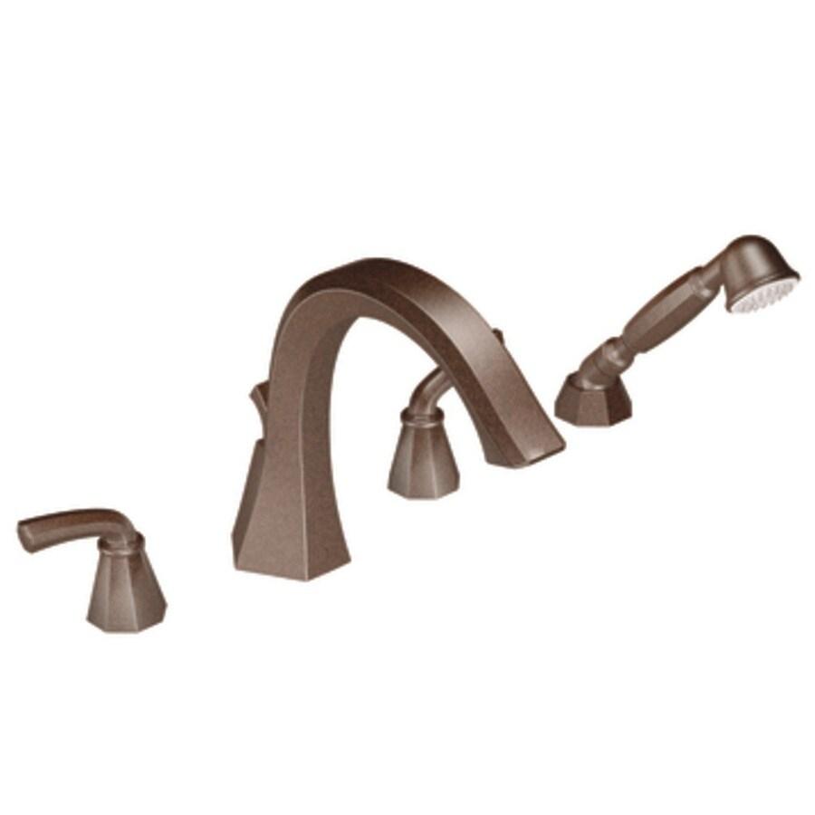 Moen Felicity Oil Rubbed Bronze 2-Handle -Handle Adjustable Deck Mount Tub Faucet