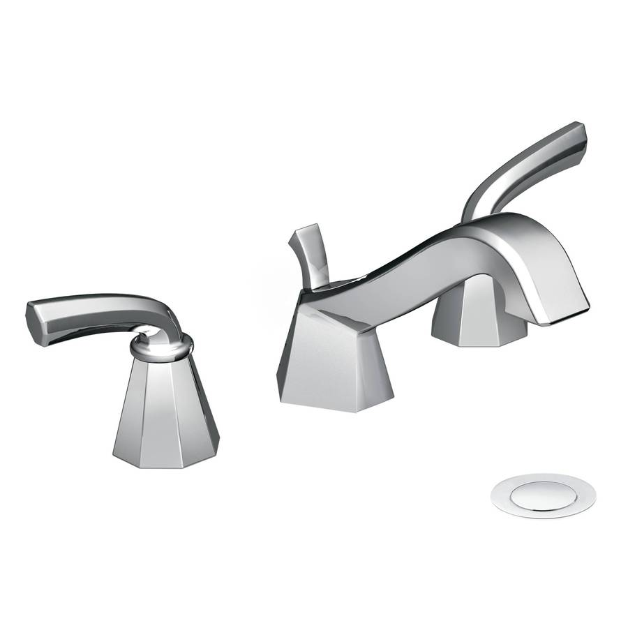 Shop Moen Felicity Chrome 2 Handle Widespread Watersense Bathroom Faucet At
