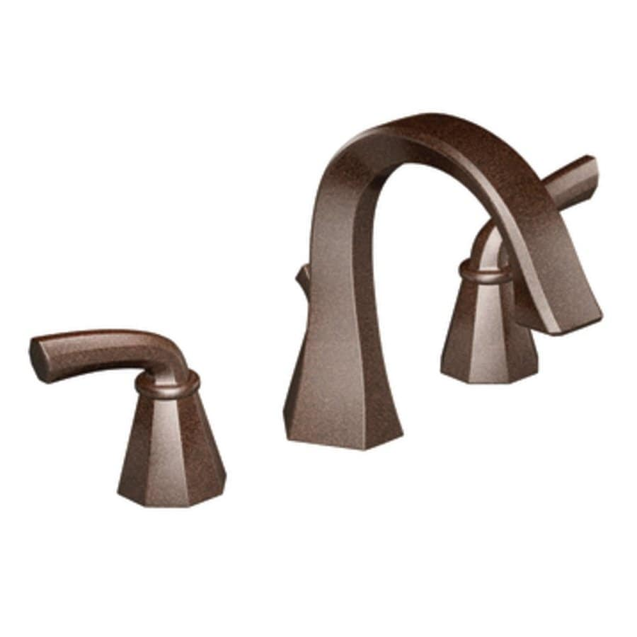 Moen Felicity Oil Rubbed Bronze 2 Handle Widespread WaterSense Bathroom  Faucet