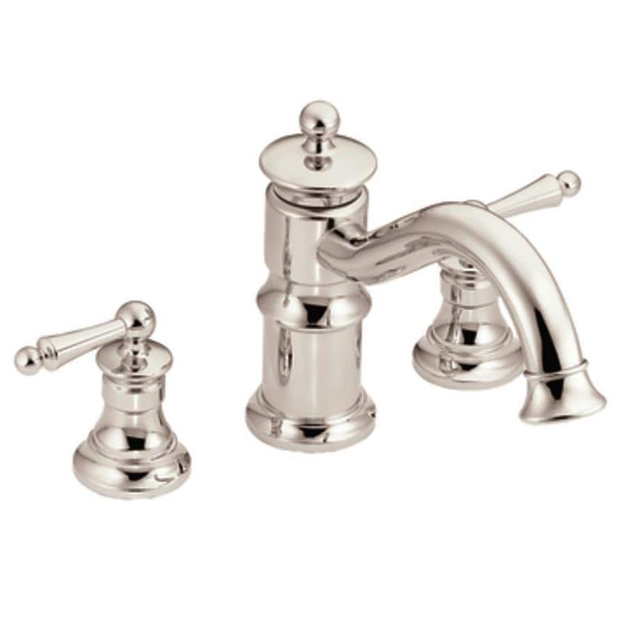 Moen Waterhill Nickel 2-Handle Adjustable Deck Mount Tub Faucet