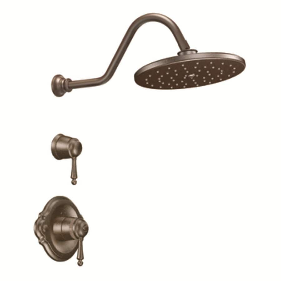Moen Waterhill Oil-Rubbed Bronze 2-Handle Shower Faucet Trim Kit with Rain Showerhead