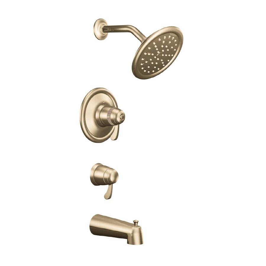 Shop Moen Antique Bronze, ExactTemp Tub and Shower Trim Kit at Lowes.com