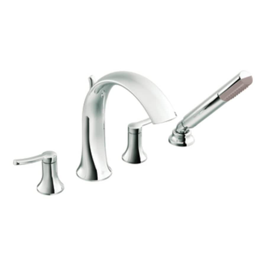 Moen Fina Chrome 2-Handle Adjustable Deck Mount Bathtub Faucet