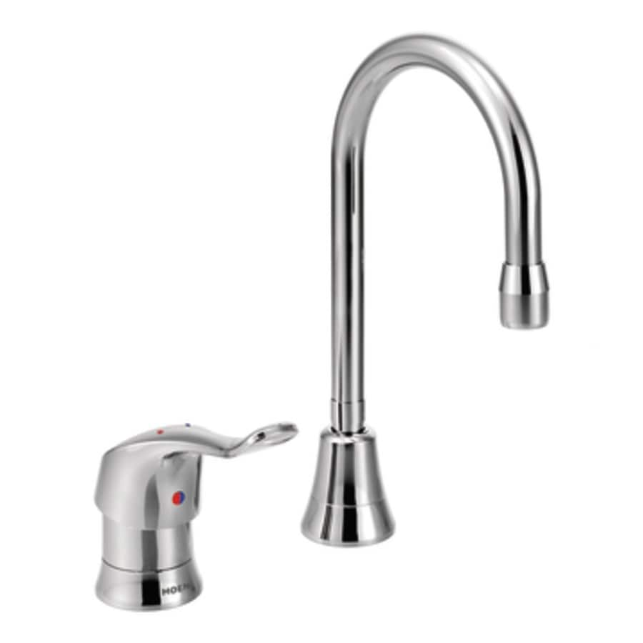 Professional Kitchen Faucets: Shop Moen M-Bition Chrome High-Arc Commercial Kitchen