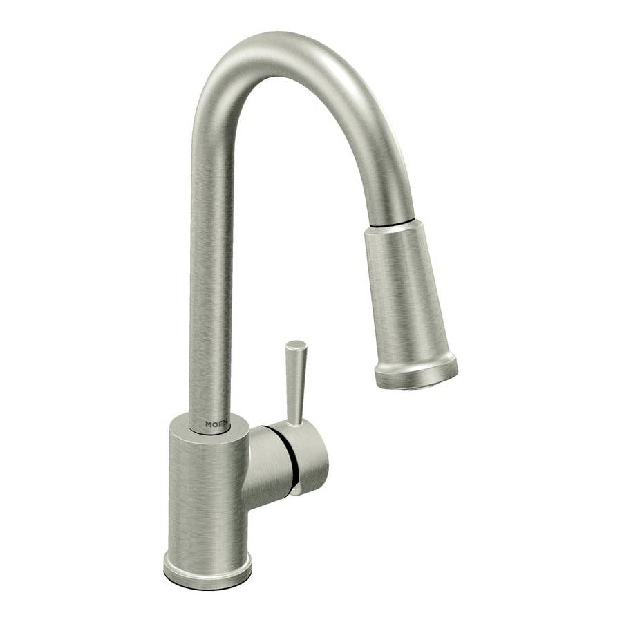 Moen Level Stainless 1-Handle Deck Mount Pull-Down Kitchen Faucet