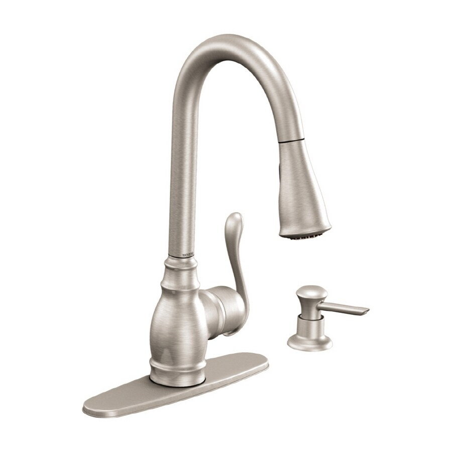 Moen Anabelle Stainless Steel Single Handle Kitchen Faucet