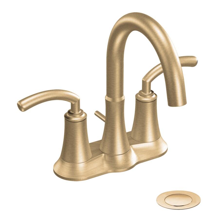 Shop Moen Icon Bronze 2-Handle 4-in Centerset WaterSense Bathroom ...