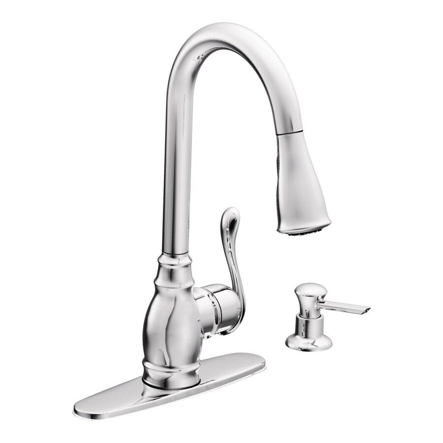 Shop Moen Anabelle Chrome 1-handle Pull-down Deck Mount Kitchen ...