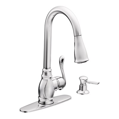 Anabelle Chrome 1-handle Pull-down Deck Mount Kitchen Faucet