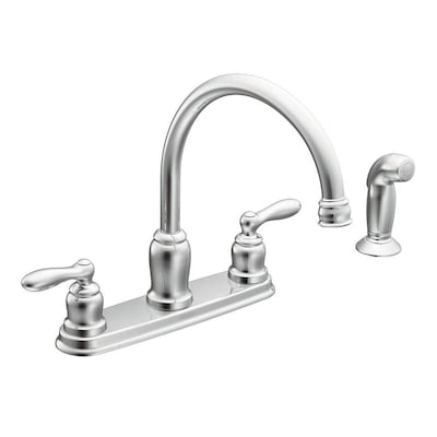 Caldwell Chrome 2-handle Deck Mount High-arc Kitchen Faucet