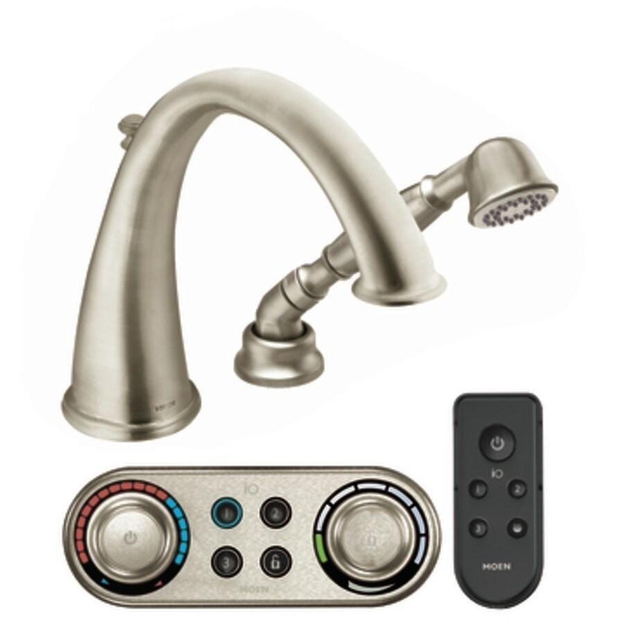 Moen Kingsley Brushed Nickel Touchless Adjustable Deck Mount Bathtub Faucet