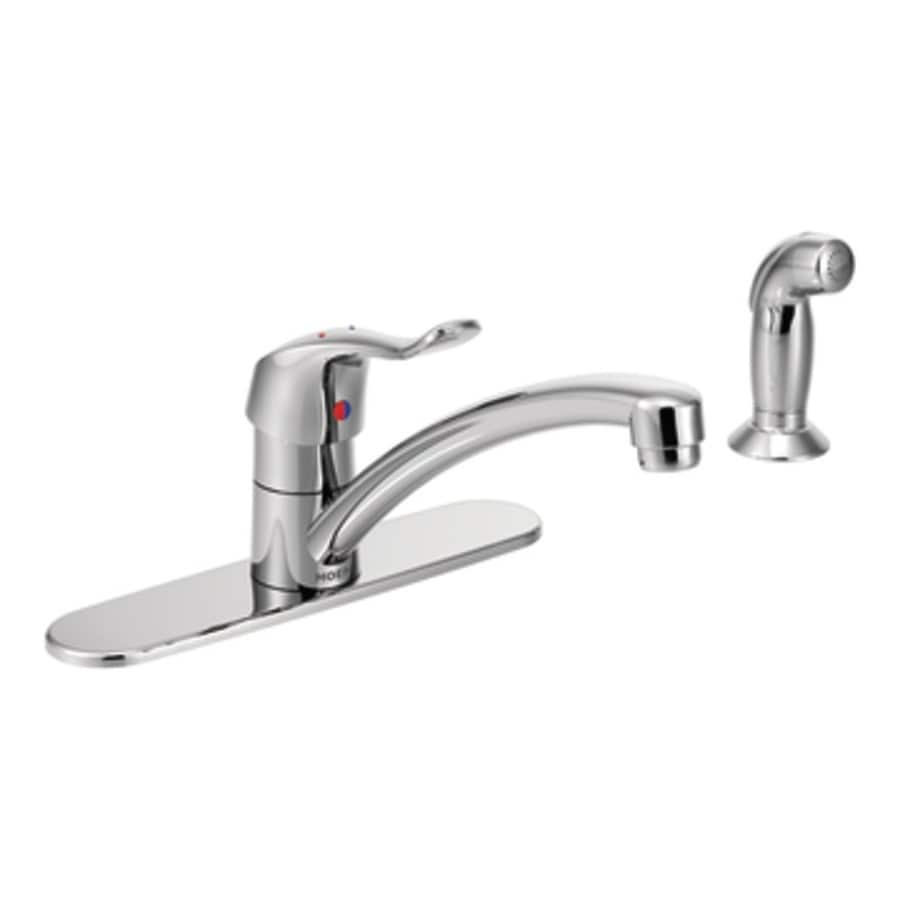Moen M-Bition Chrome 1-Handle Low-arc Deck Mount Kitchen Faucet