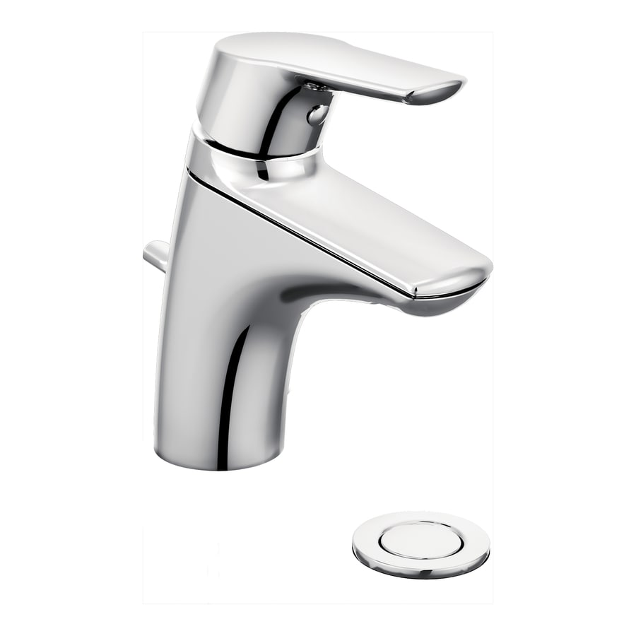 Shop Moen Method Chrome 1 Handle Single Hole Bathroom Sink Faucet At