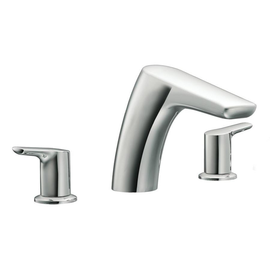Moen Method Chrome 2-Handle Deck Mount Bathtub Faucet