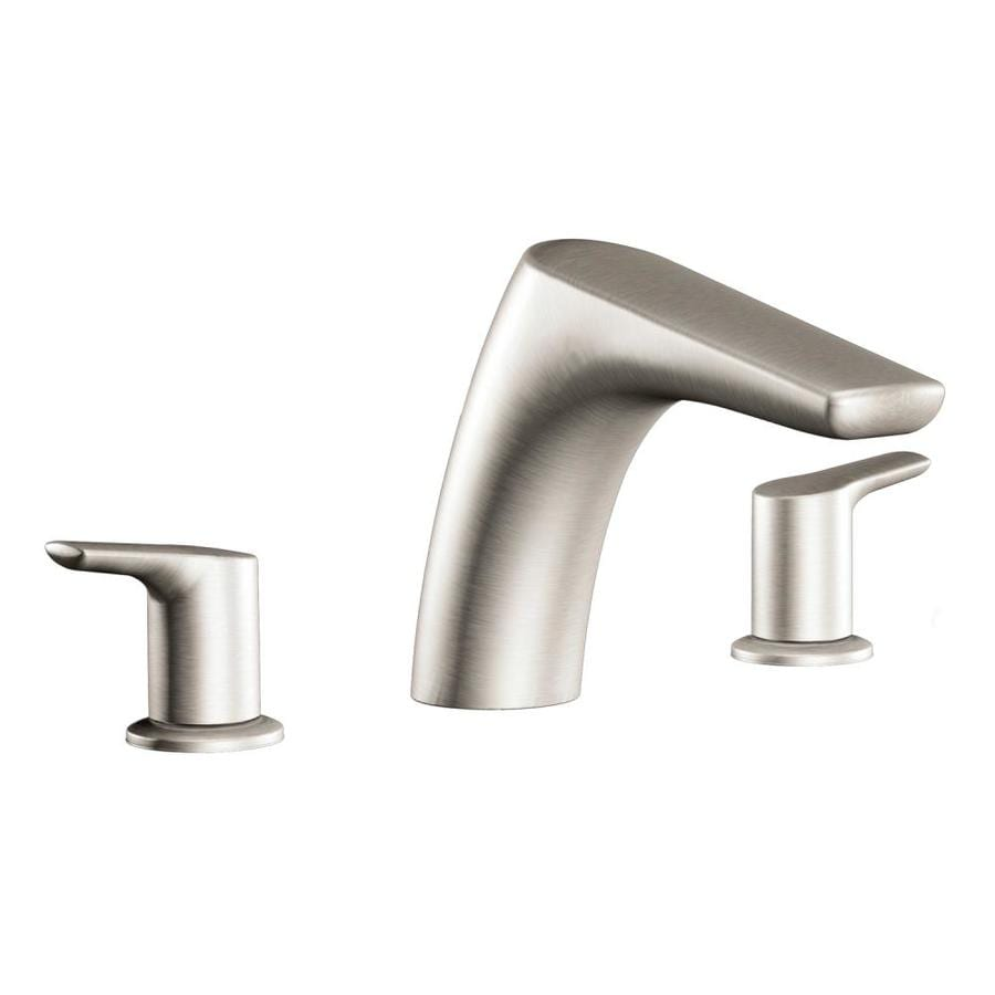 Moen Method Brushed Nickel 2-Handle Fixed Deck Mount Tub Faucet