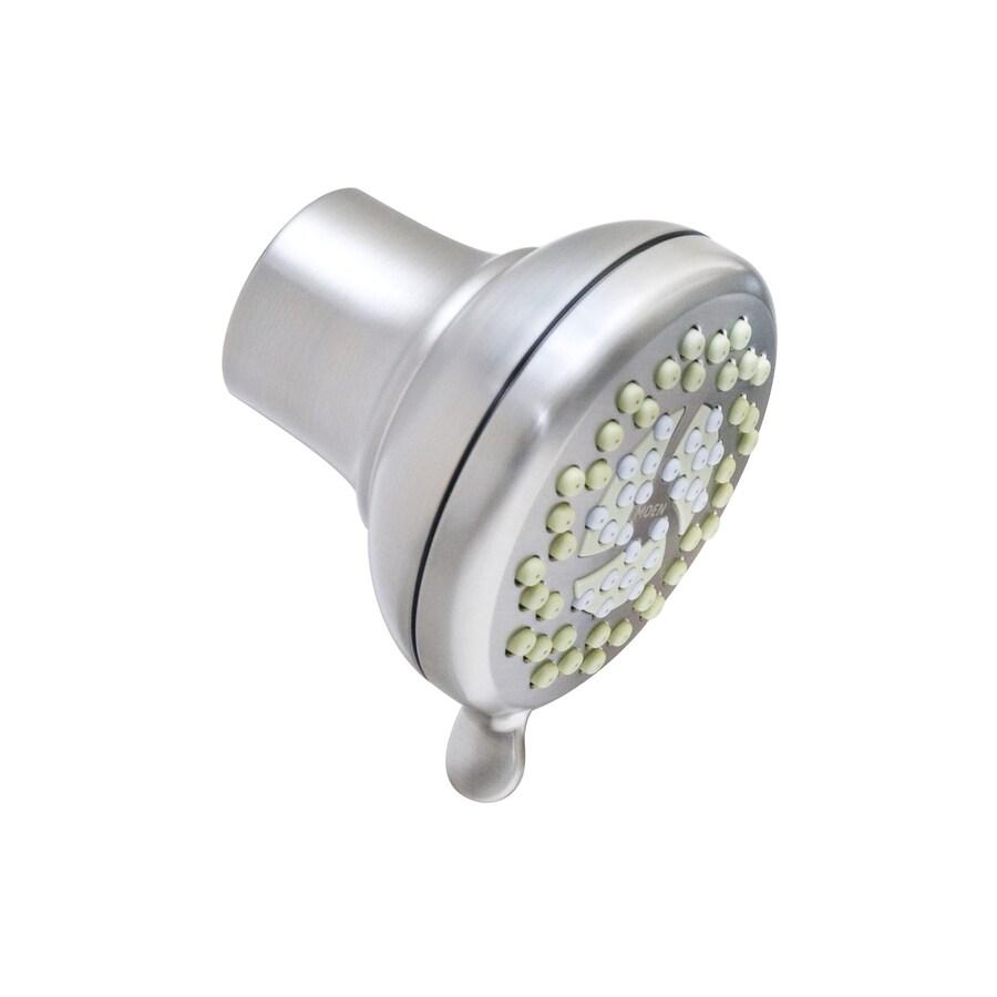 Moen Nurture 4-in 1.75-GPM (6.6-LPM) Spot Resist Brushed Nickel 3-Spray WaterSense Showerhead