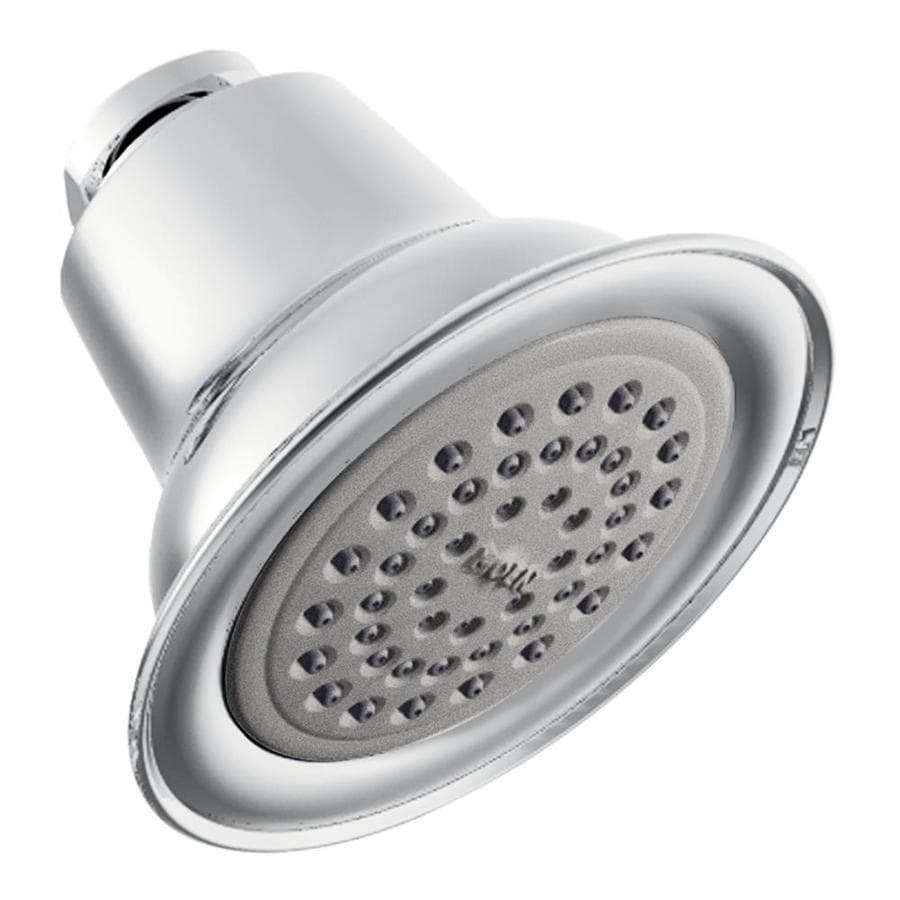Moen 3.375-in 1.75-GPM (6.6-LPM) Chrome 1-Spray WaterSense Showerhead