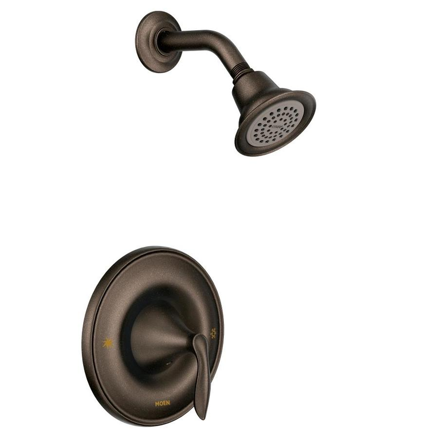 Moen Eva Oil-Rubbed Bronze 1-Handle WaterSense Shower Faucet with Single Function Showerhead