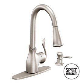 Moen CA87006 Kitchen Faucet with Pullout Spray and Soap ...