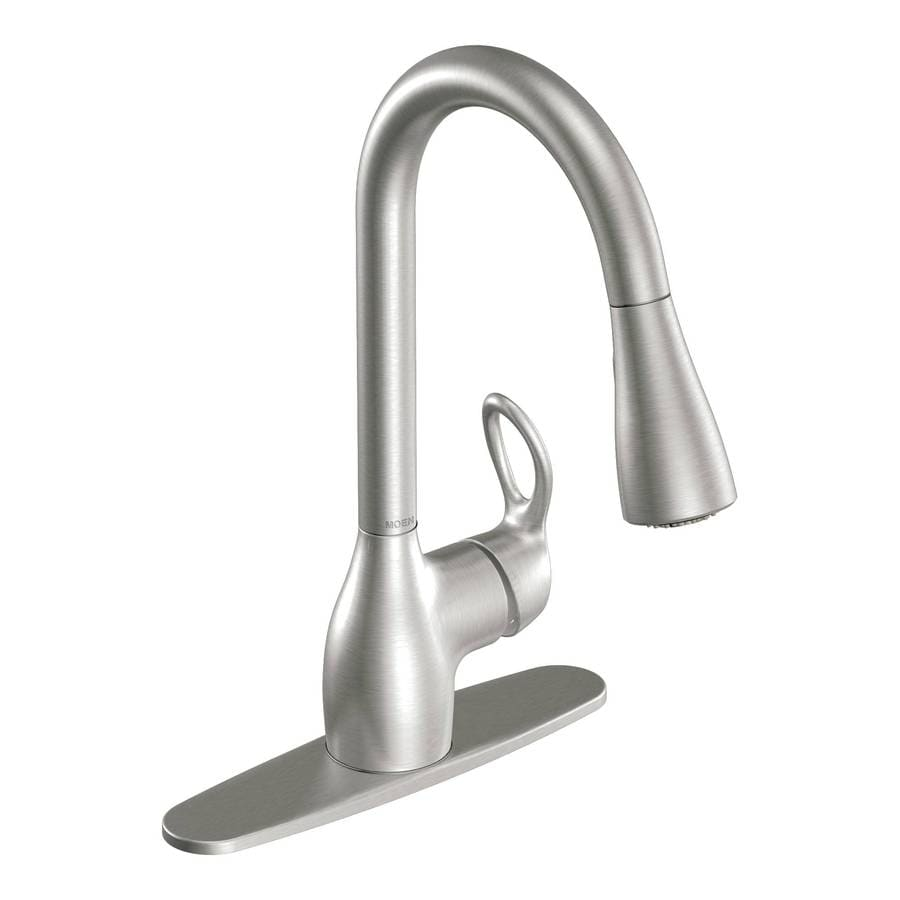 Shop Moen Kleo Spot Resist Stainless 1 Handle Deck Mount