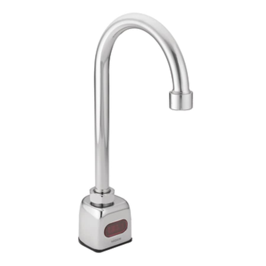Shop Moen M-power Chrome 4-in Centerset Commercial Bathroom Faucet ...