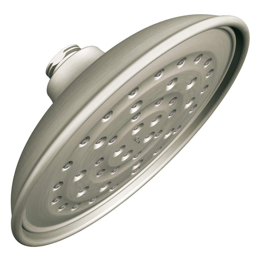 Shop Moen Vitalize Spot Resist Brushed Nickel 1 Spray Rain Shower Head Shower