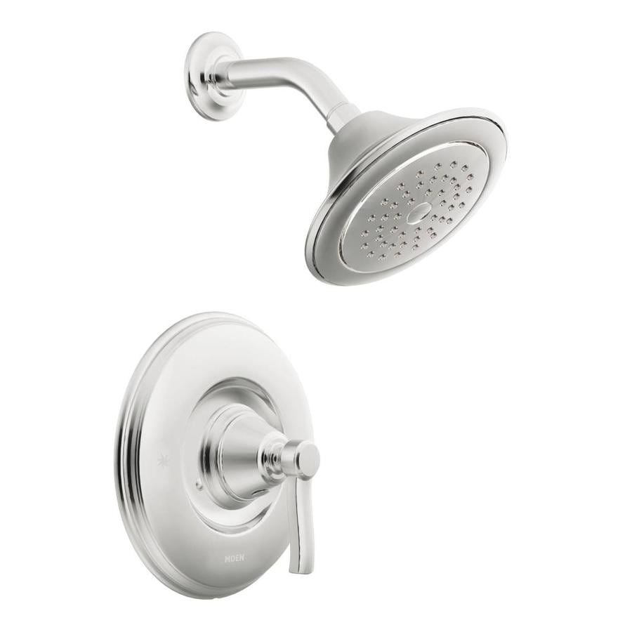 Moen Rothbury Chrome 1-Handle Shower Faucet Trim Kit with Single Function Showerhead