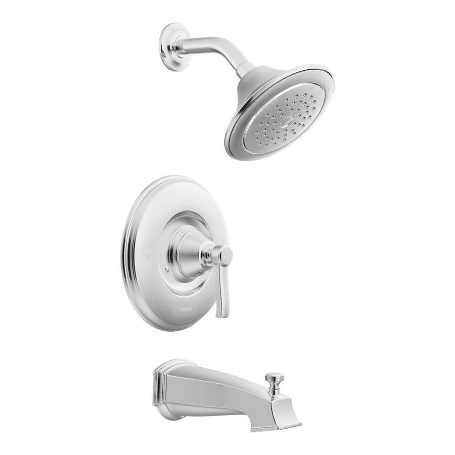 Moen Rothbury Chrome 1-Handle Bathtub and Shower Faucet